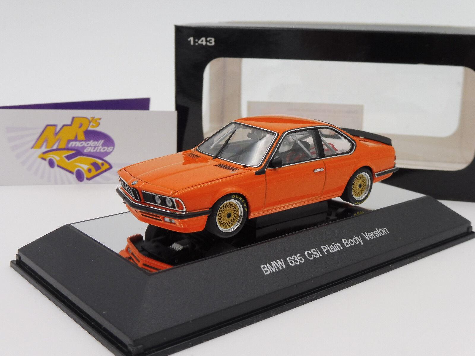 AUTOart 68448   BMW 635 CSi Baujahr 1984 Plain Body Version   Orange   1 43  | Kaufen