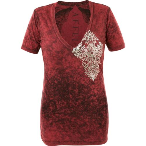Mᄄᆭtal Damen T RᄄᆭvRot Prᄄᆭcieux Affliction shirt 35qAL4Rj