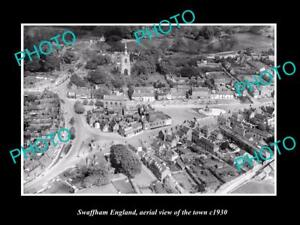 OLD-LARGE-HISTORIC-PHOTO-OF-SWAFFHAM-ENGLAND-AERIAL-VIEW-OF-THE-TOWN-c1930-4