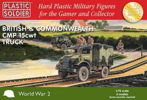 Plastic Soldier WWII Mini 1//72  CMP 15 CWT Trucks New