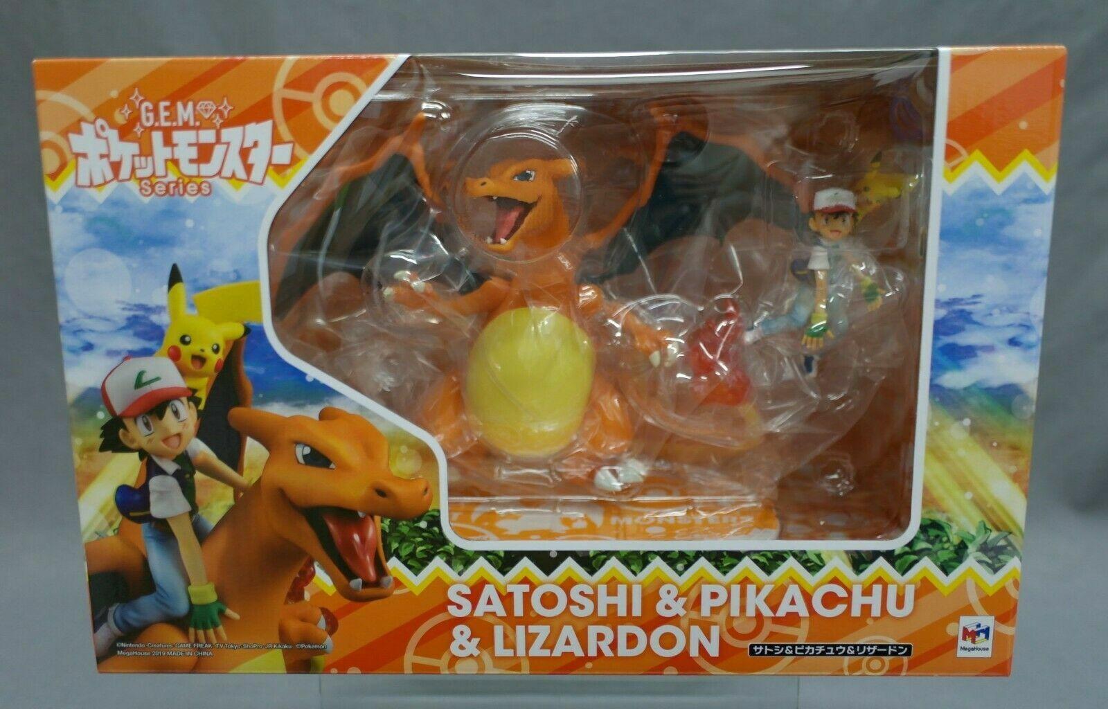 GEM G.E.M. Series Pokemon Ash Ketchum Pikachu & Charizard MegaHouse Japan NEW