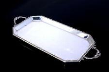 Perldekor-Tablett Jugendstil WMF I/0 antik altes Silbertablett Silber versilbert