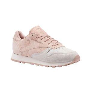 ceca818a Reebok Classic Leather Nbk (PALE PINK/CHALK PINK) Women's Shoes ...