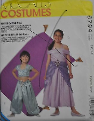 McCall's Sewing Pattern # 6794 Childs Costume Bride, Princess, Genie Size 12-14