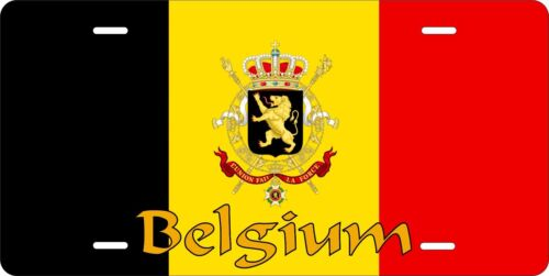 Belgium Flag License Plate Personalized Car Auto Bike Moped Motorcycle
