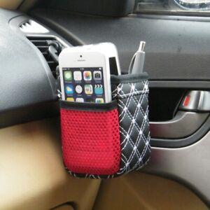 FJ-Car-Air-Vent-Mount-Storage-Bag-Mesh-Pouch-Phone-Holder-Pocket-Sundries-Organ