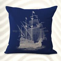 Us Seller- Beach Coastal Ship Cushion Cover Throw Cushions Online