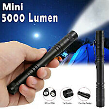20000LM LED Lamp Clip Waterproof Flashlight Torch AAA Penlight Light Mini MA