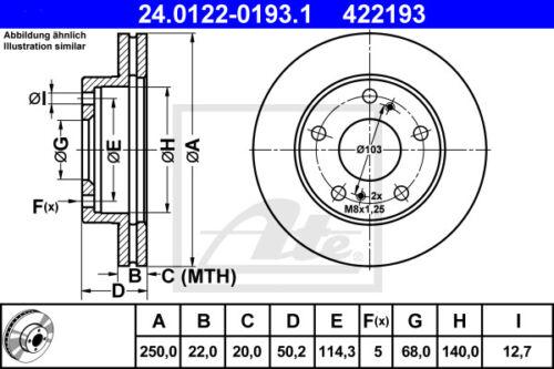 3A//C VA ATE Bremsscheiben für PEUGEOT 307 Beläge Vorderachse