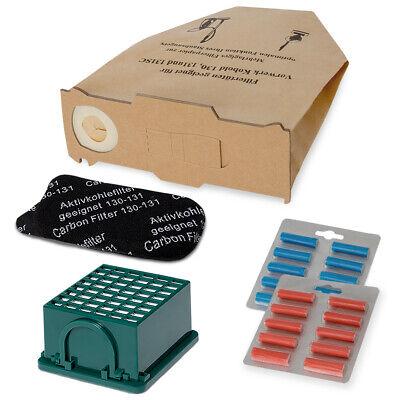 8 Duft 8 Staubbeutel Tüten Papier geeignet Vorwerk Kobold 130 131 Filterset