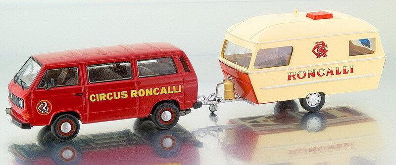 PREMIUM CLASSIXX 11459, VW T3A BUS & HOME TRAILER, RONCALLI, 1 43 SCALE
