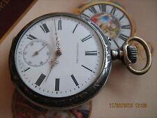SALE!!! Rare,nice Hyppolite Parrenin Chronometre,Art-Deco 84 silver pocket watch