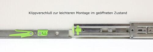 Schubladenschienen Teleskopauszüge Selbsteinzug Dämpfer Vollauszug 45 mm 650 mm