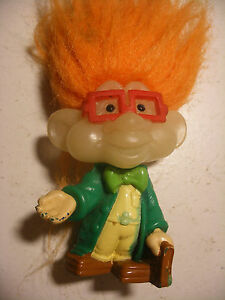 Vintage PVC les TROLLS figurine TROLL KIDS CLUB BURGER KING Glow in the Dark 8cm