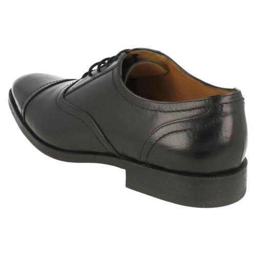 * vente £ 49.99 CLARKS pour Homme en Cuir Noir Lacets Style chaussures Bakra ascenseur