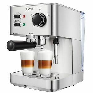 Espresso Machine Aicok Cappuccino Latte Coffee Maker 15 Bar with Milk  Frother 85d46d4eb102