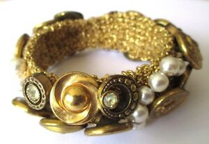 bracelet-extensible-bijou-vintage-couleur-vieil-or-pieces-perles-boutons-623