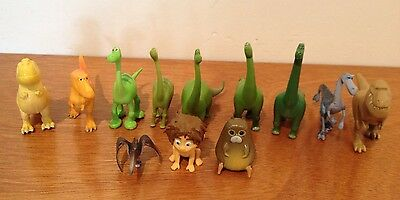 12 Disney Pixar The Good Dinosaur Cake Toppers plus Playmat & Story