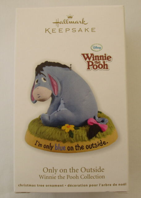 Hallmark 2012 Disney Eeyore Winnie the Pooh Only Blue Outside Christmas Ornament
