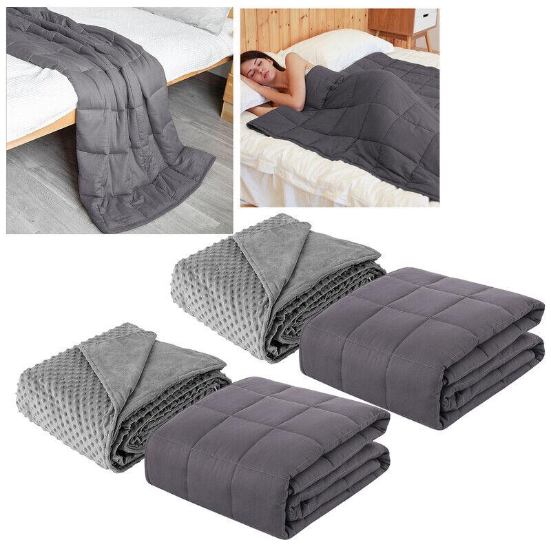 Gewichtsdecke Schwere Decke Therapiedecke 3kg-9kg mit Deckenbezug