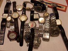 17 ESTATE WATCH LOT FOR REPAIR TINKERING PARTS CASIO,CITIZEN, HAMILTON & MORE