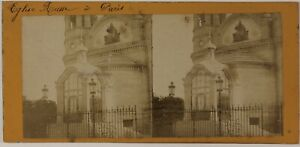 Eglise-Russe-Paris-France-Photo-Stereo-Vintage-Albumine-c1870