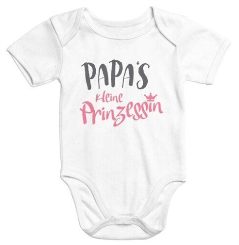 Kurzarm Baby Body Papas kleine Prinzessin Onesie Mädchen Moonworks®