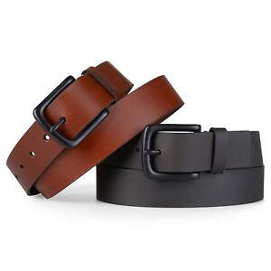 Timberland-Men-039-s-Pull-Up-BLACK-amp-BROWN-Genuine-Leather-Belt