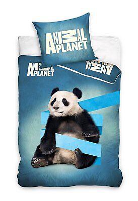 Di Carattere Dolce Panda Animal Planet Set Lenzuola Letto Singolo,copripiumino 160x200 Cotone