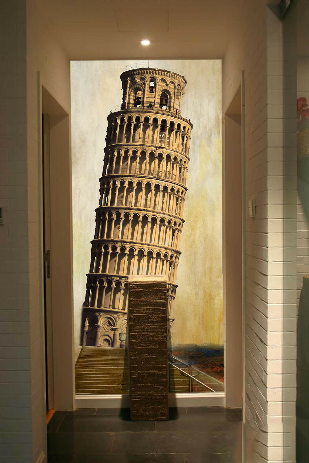 3D Leaning Tower 9078 Wall Paper Wall Print Decal Wall Deco Wall Indoor Murals