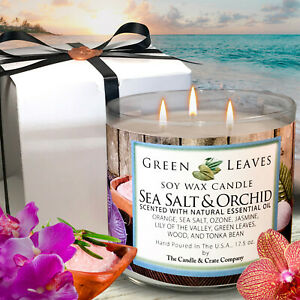 Handmade-Hand-Poured-all-Natural-Sea-Salt-And-Orchid-Soy-Candle-Gift