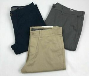 Haggar-Mens-Pants-Chino-Sustainable-Stretch-Flat-Front-Straight-Fit-Variety