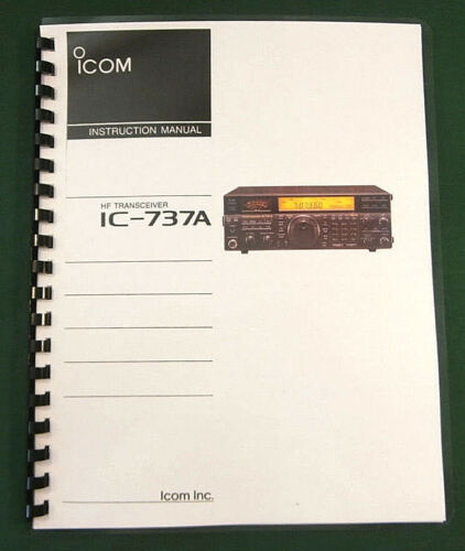Premium Card Stock /& Protective Covers! Icom IC-737A Instruction Manual