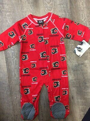 Size 2T NHL Calgary Flames Toddler Boys Sleepwear All Over Print Pants Red