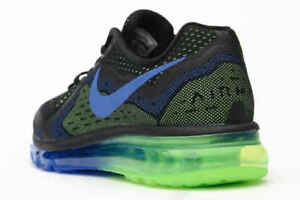 Image is loading NEW-Nike-Air-Max-2014-Black-Electric-Green-