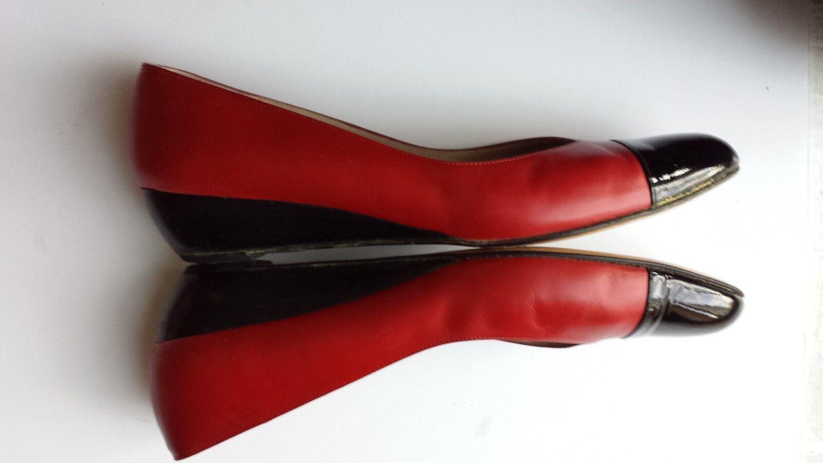 Ferragamo ROT Ballet Flat 9.5 AAA Extra Narrow  Comfort Slip On Pump Cap