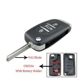 3 Button Flip Remote Key Fob Case Shell Fit For Citroen C2 C3 C5 C6 C4 C8