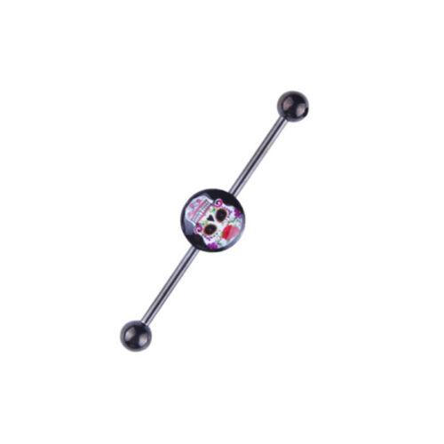Chirurgenstahl Industrial Piercing Zircon Hantel Ohr Stab Barbell Stecker Kugel