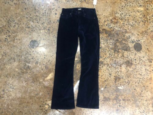Rise Brix Velours Jeans 25 Crop High Grootte Nwt Obsidiaan Dames Navy Bootcut Hudson wEq8gIA