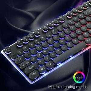 USB-Wired-PC-Computer-Gaming-Keyboard-Typewriter-Colourful-Backlight-Mechanical
