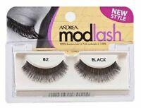 8 Pairs Andrea Modlash 82 False Eyelashes Strip Lashes Black 28012