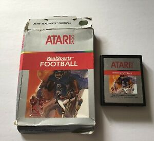 RealSports-Football-Atari-2600-Cart-amp-Box-TESTED-1982