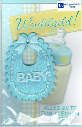 Glückwunschkarte Geburt Junge Glückwunsch  Klappkarte DIN C6