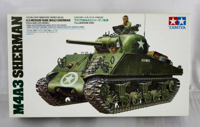 Tamiya 1/35 Scale Kit No 35122 M4a3 Sherman Medium Tank Factory