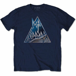 DEF-LEPPARD-Triangle-Logo-Mens-T-Shirt-Unisex-Official-Licensed-Band-Merch