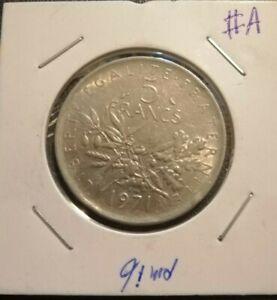 5 Francs 1971 Coin (VF) #A