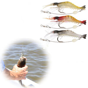 3-Soft-Plastic-Fishing-Lures-Tackle-Prawn-Shrimp-Flathead-Bream-Cod-Bass-Lure