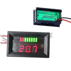 LED Indicator Battery Capacity Tester Voltmeter 36V Lead-acid Lithium Red