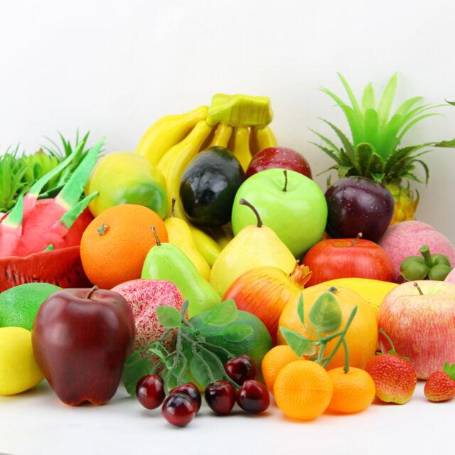 Lifelike Decorative Plastic Artificial Fake Fruit Home Decor Craft Orange  Apple