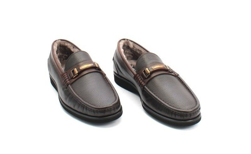 ROBERTO SERPENTINI 17250 Brown Pelle Shearling Loafer Shoes US 43 / US Shoes 10 906ee4